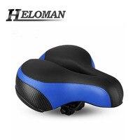Reflective MTB Bicycle Saddle Shockproof Waterproof Spring type Hollow Ventilate Bike Seat