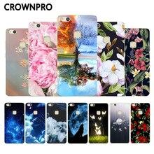 CROWNPRO Huawei P10 Lite silikon kılıf Huawei P10 Lite Telefon P Akıllı Fundas arka kapak Huawei P10lite Yumuşak tpu koruyucu ps...