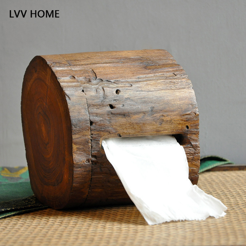 Lvv Home Retro Crafts Wood Tissue Storage Box Natural