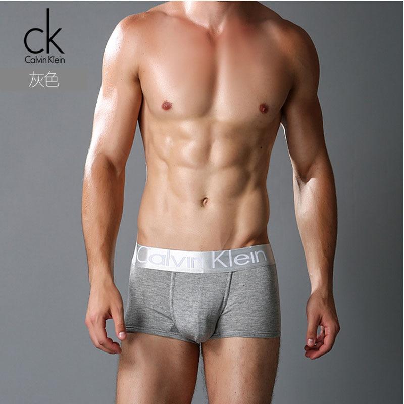 8cc872852739c Calvin Klein CK Men's Underwear Sexy Man Cotton Solid Men's Pants With  Deluxe packaging-in Boxers from Underwear & Sleepwears on Aliexpress.com    Alibaba ...