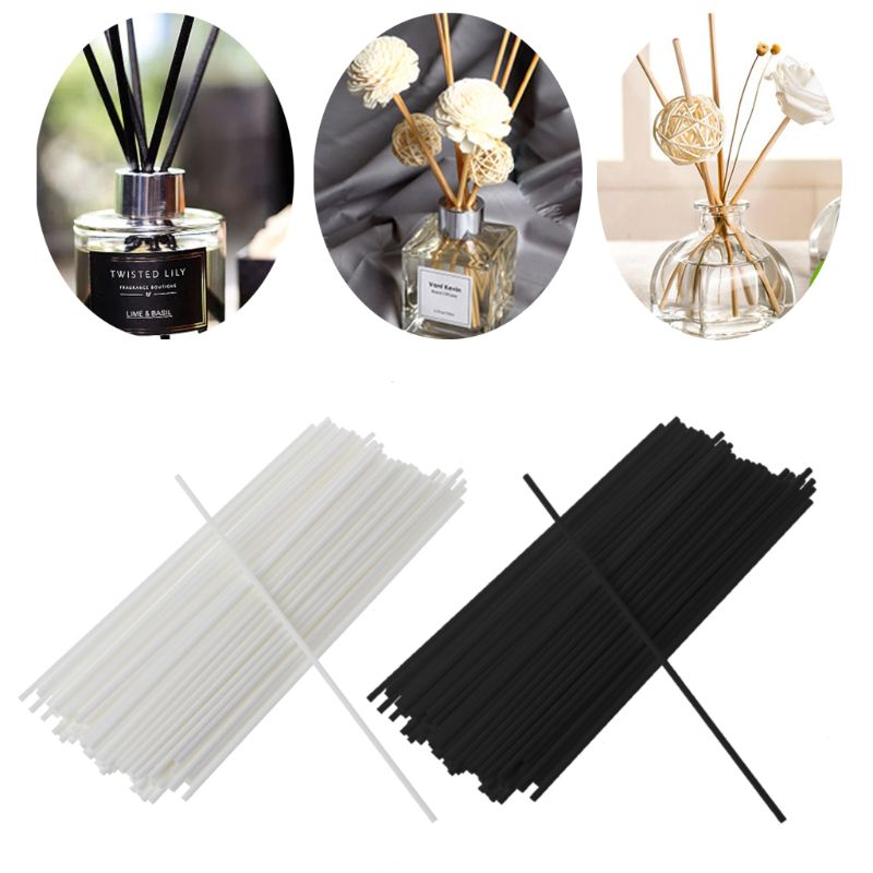 100Pcs 19cmx3mm Fiber Sticks Diffuser Aromatherapy Volatile Rod for Home Fragrance Diffuser Home Decoration