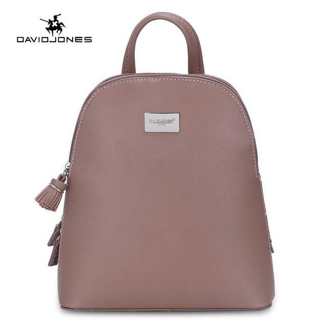 DAVIDJONES mulheres mochilas de couro falso fêmea sacos de ombro grande senhora softpack sólida marca menina adolescente de volta saco de transporte da gota