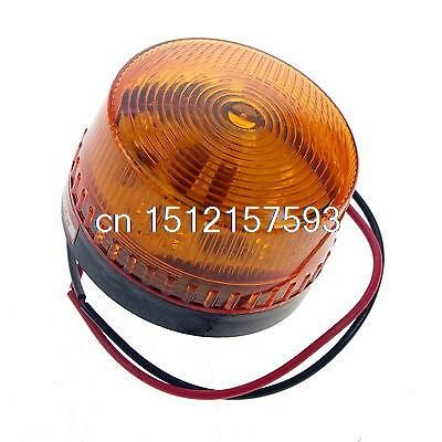 1PCS 220VAC Orange LED Beacon Warning Signal Light Lamp Spiral Fixed