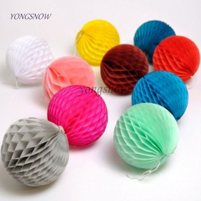 1 pcs Colorful Decorativo Del Tessuto di Carta A Nido D'ape Balls Fiore Pastello