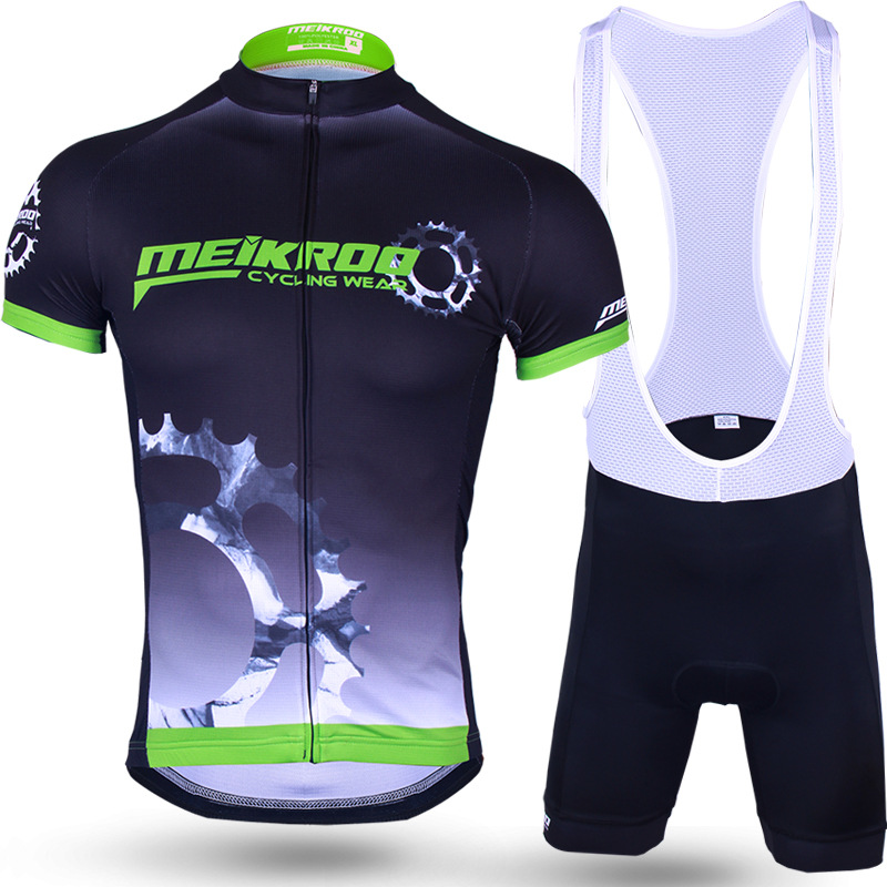 2018 Short Sleeve Cycling Set Mountain Bike Clothing Summer Cool Colombia Jersey And Pants Bicycle Bib Set Maillot Ropa Ciclismo