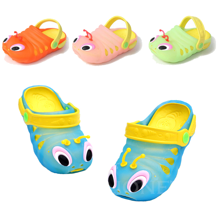 e84298cf481 Cute Cartoon Breathable Childrens s Baby Slipper Girls Boys Kids Slippers  3D Caterpillars EVA Shoes Sandals Flip Flops-in Slippers from Mother   Kids  on ...