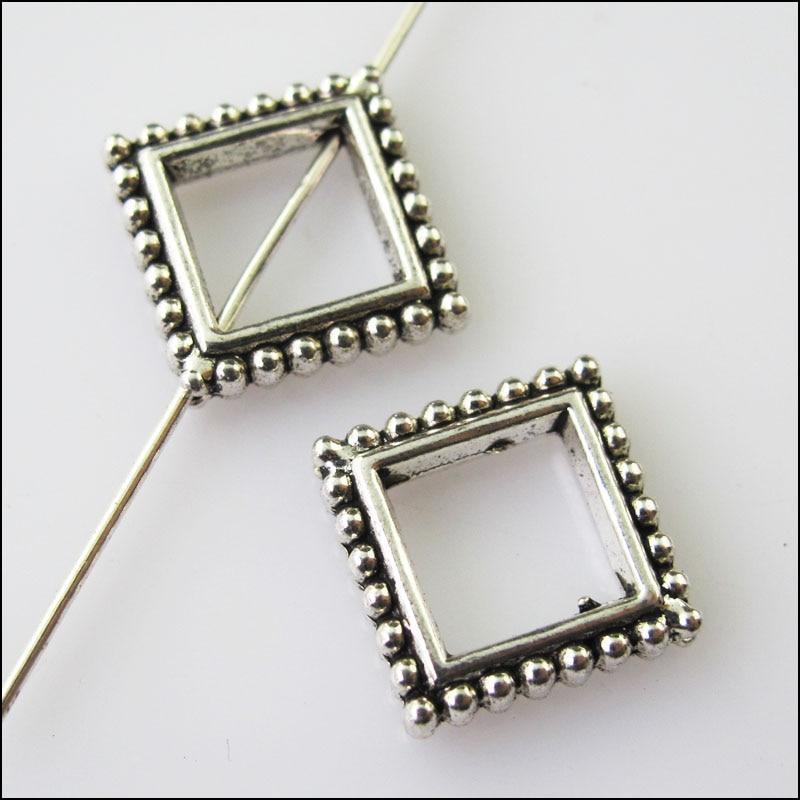 8pcs Tibetan Silver 2sided delicate spacer Beads fit bracelet L0161