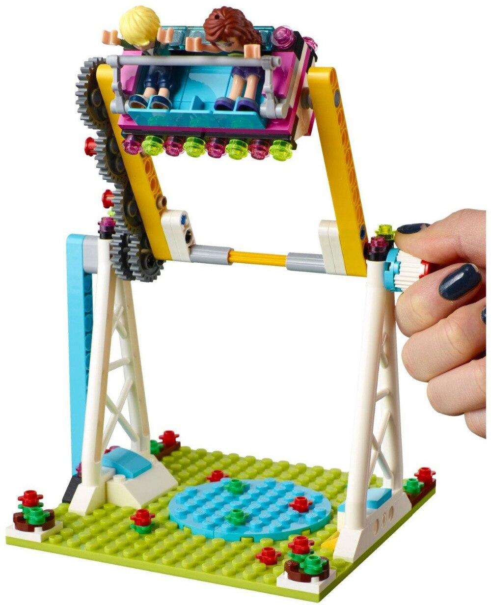 LEPINE Friends Amusement Park Bumper Cars Building Blocks Classic For Girl Kids Model Toys Marvel educational block girl gift lepine model
