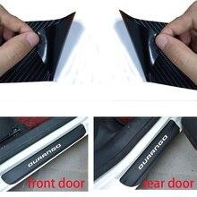 4pcs Carbon Fiber Vinyl Car Door Guard Sticker for Dodge Durango
