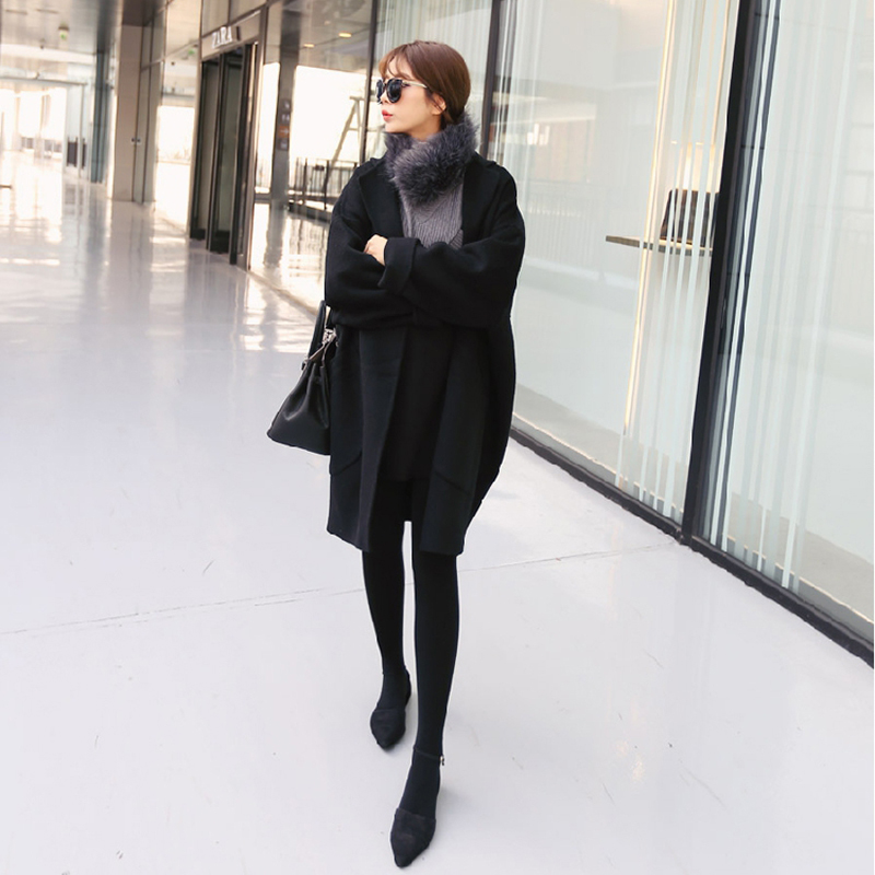 Popular Black Wool Coat-Buy Cheap Black Wool Coat lots from China ...