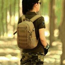 Tactical Molle 12L Backpack Mini Daypack Military Assault Pack Men Women School Bag Rucksack Trek Portable Backpack Black
