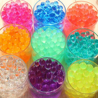 200Pcs/Lot Crystal Soil Home Decor Pearl Shaped Hydrogel Gel Polymer Water Beads Mud Grow Magic Jelly Balls