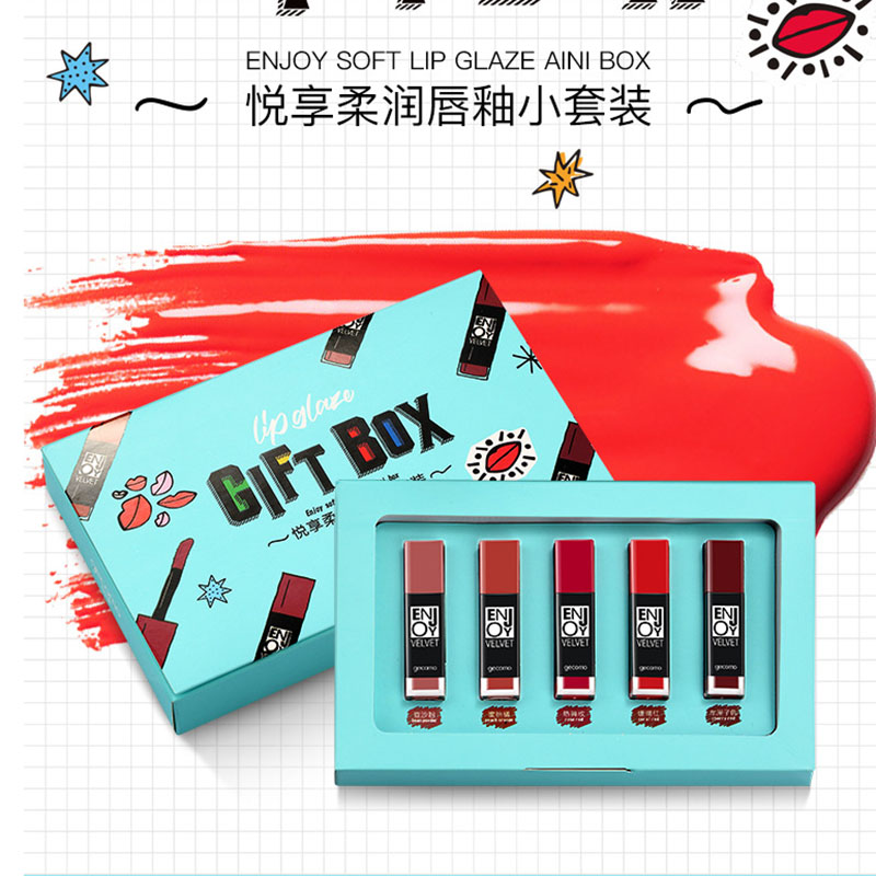 5 Colors/Set Soft Lip Glaze Lipstick Liquid Moisturizer Nutritious Gloss Women G