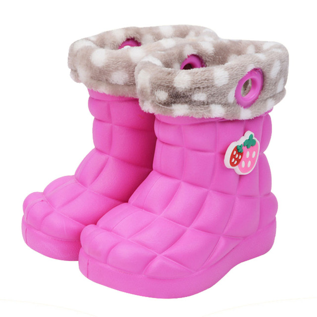 2017 New Kids Девушки ЕВА Дождя Сапоги Корея Стиль Мода Дети Shoes Slip on Девушка Сапоги Малышей Водонепроницаемый Дождь Shoes