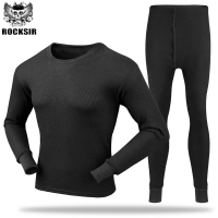 Hot Sale 1 Set Premium Cotton Blend Long Johns O Neck Solid Men Thermal Underwear Long