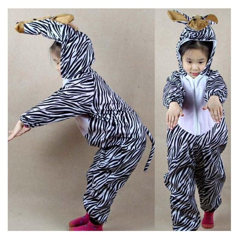 Umorden Kanak-kanak Kanak-kanak Gadis Gadis Boys Kartun Haiwan Zebra - Kostum karnival - Foto 2