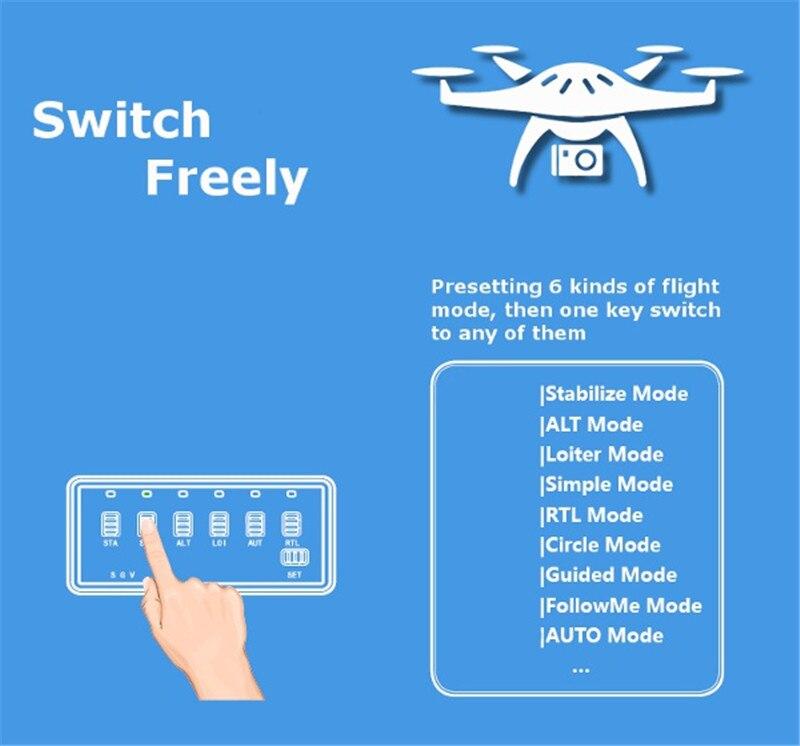 New X-ROCK 6CH Flight Mode Switcher For APM Pix Pixhawk Pixhack Support Futaba Frsky Saitek