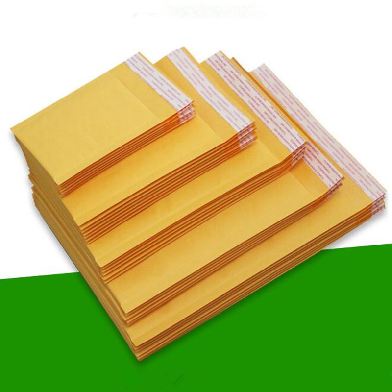 10Pcs/Lot Courier Bags Waterproof Packaging Bubble Mailers Padded Envelopes Bag Kraft Bubble Mailing Envelope Bags