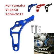 Cnc capa protetora de motor para atv, proteção de alumínio para yamaha yfz450 2004 - 2013 2005 2006 2008 2010 yfz 450