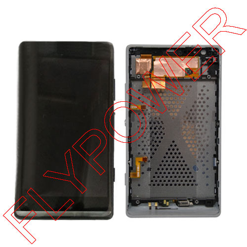 ФОТО lcd For Sony SP M35h lcd display with touch screen assembly frame Black by free shipping