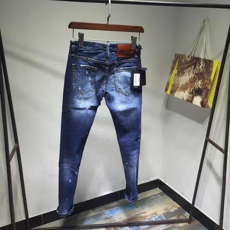 Nuovo Lavato Le Design Femme Pantaloni Metà Jeans Per Foro Della Donna Matita Elastico Di Scarni Casuali Dei Con Donne Blu Vita rZr1q