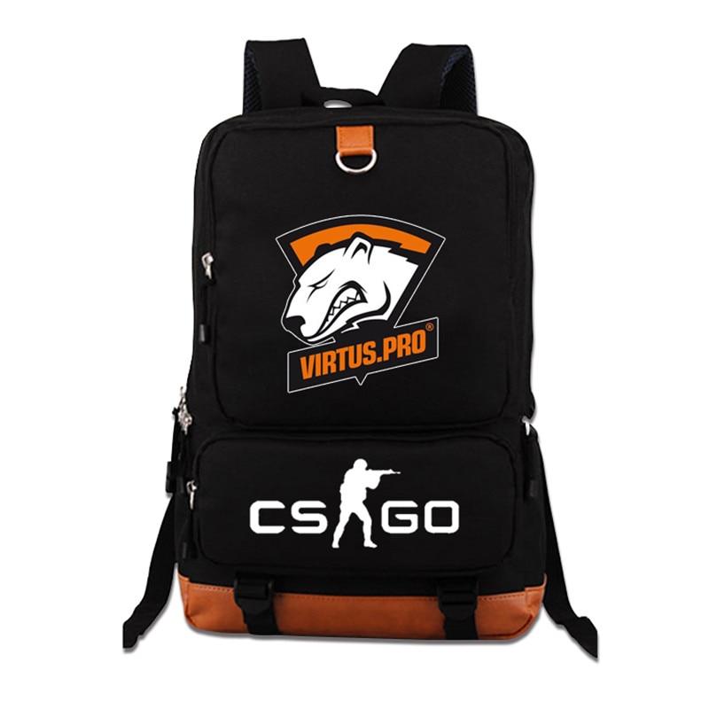 Top Quality Virtus.pro Team Fnatic DOTA 2 CS CSGO Luminous Teenagers Printing Backpack Student Laptop Bag Mochila Feminina