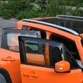 Accesorios del coche De Aire De Ventana Deflectores Deflectores de Viento Lluvia Guardias para Jeep Renegade 2015-2016