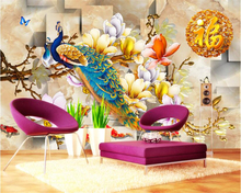 beibehang 2017 new fashion senior wallpaper Peony flower carving Chinese classical background wall papel de parede 3d