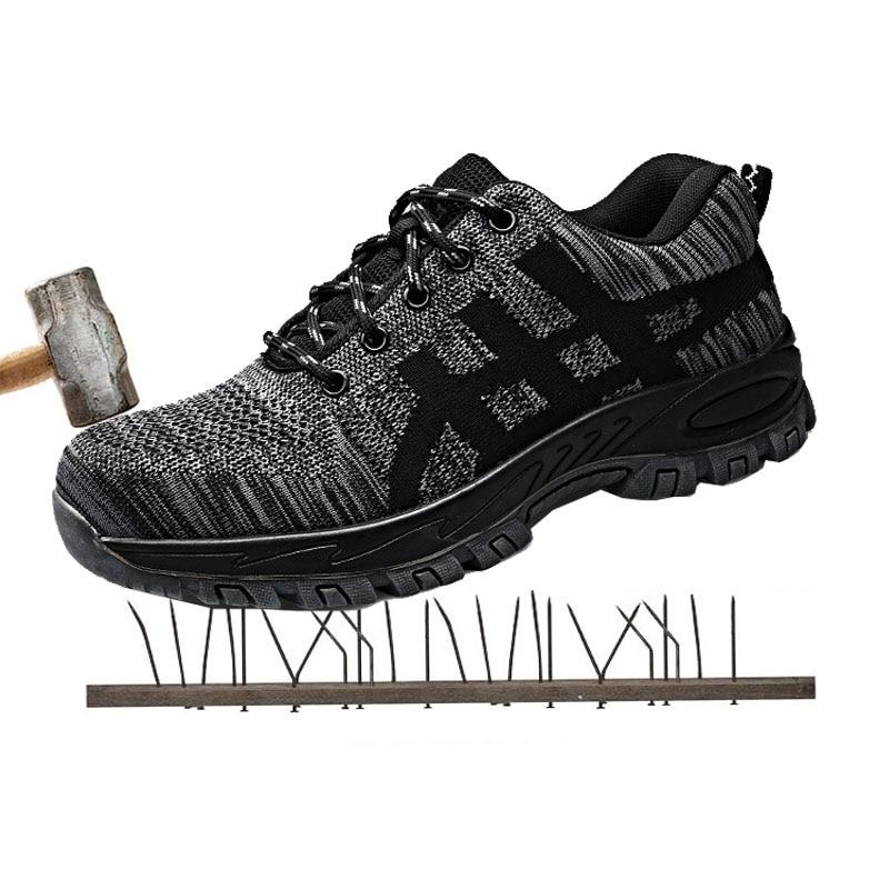 Perforation Résistant Bottes Chaussures La preuve De rouge Indestructible perméable Gris Sécurité Smash Air À Protection rqY7wzr