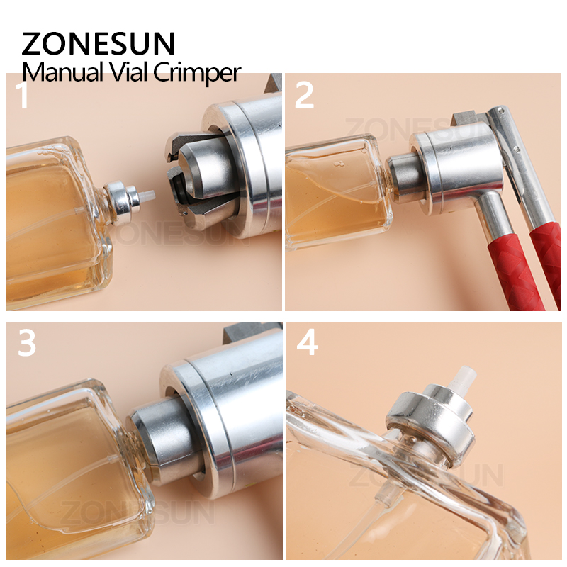 ZONESUN  Crimper, Hand sealing machine, mirror apperance,flexible,Power Tool Parts,capping tool for perfume bottle-in Tool Parts from Tools    2