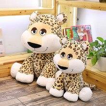 лучшая цена New Cute Cartoon Leopard Doll Plush Toys Stuffed Animal Leopard Plush Doll Toy Children Toys Boys Birthday Gift