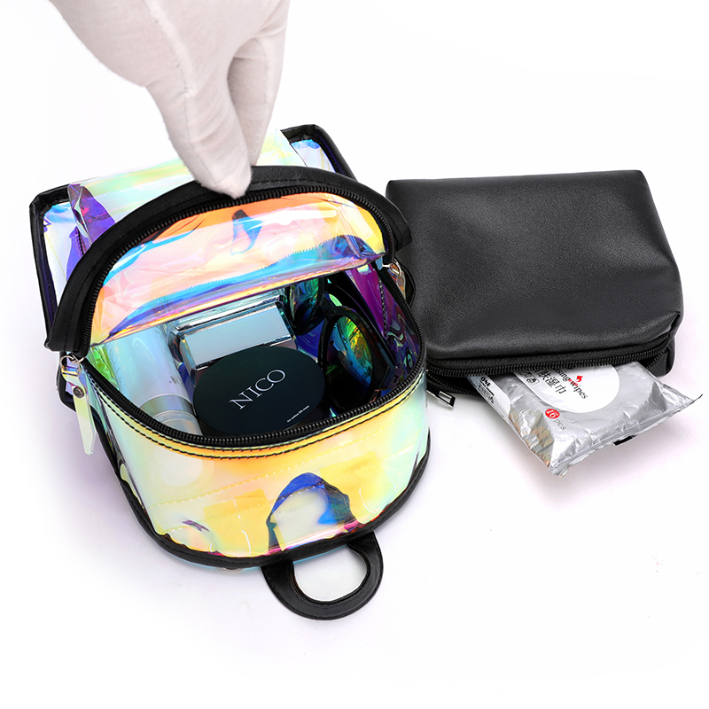 EMMA YHBL New Korean fashion jelly transparent backpack with one shoulder and cross body bag for girls in Backpacks from Luggage Bags