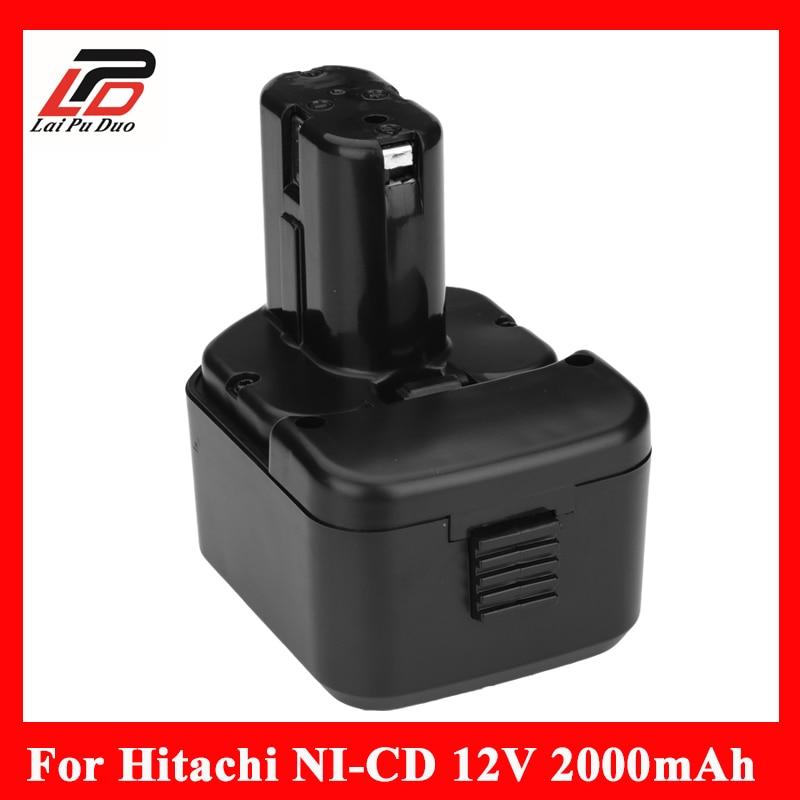 12 v 2.0Ah ni-cd Remplacement power tool batterie pour HITACHI 12 V EB1212S, DS12DVF3, bcc1215 EB 1233X DN12DYK pâte