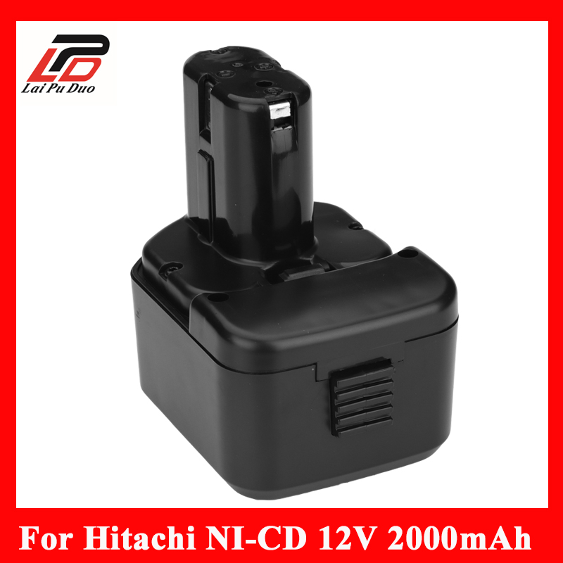 12v 2.0Ah Ni-cd Replacement power tool battery for HITACHI 12V EB1212S,DS12DVF3 ,bcc1215 EB 1233X DN12DYK batter waterproof 12v 4500mah ni mh replacement power tool battery for hitachi eb1212s eb1214l eb1214s free shipping
