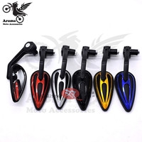 5 Colors Available Decal Scooter Accessories Motorcycle Mirror Handlebar End Moto Rearview Mirror Motorbike Bar End
