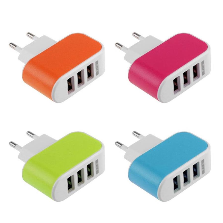 BARU 3 Port USB Charger 3A Pengisi Daya Ponsel Portabel Travel USB - Aksesori dan suku cadang ponsel - Foto 3