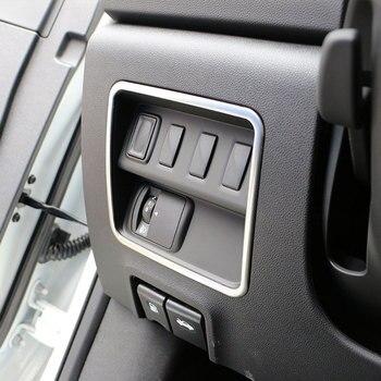 色私の人生車クロームヘッドライトスイッチ保護サークルトリムカバーステッカールノーコレオスのためのサムスン QM6 LHD 2017 2018