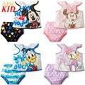 Ropa nueva para niños de Dibujos Animados Minnie sistema de la ropa para el bebé camisa de Algodón de la muchacha de mickey pantalones cortos 2 unids trajes niños chándales KD090