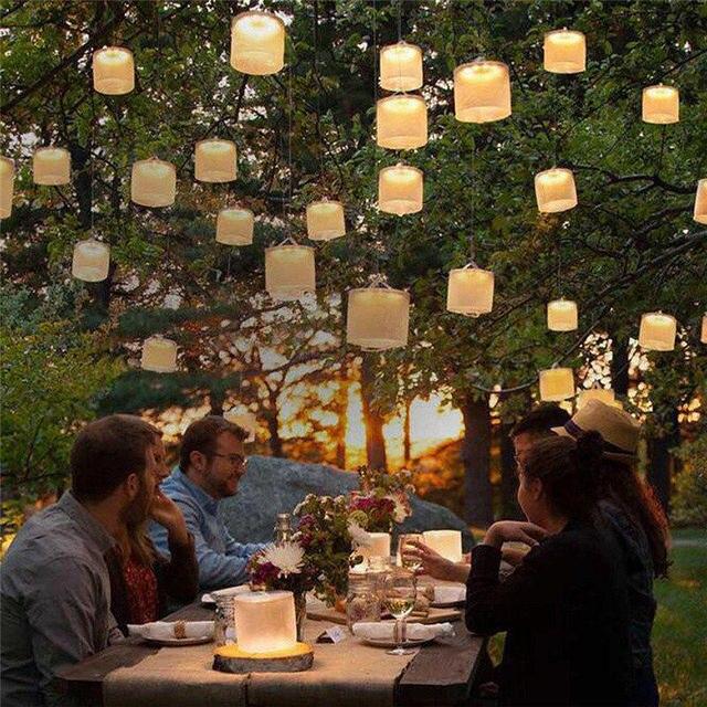 HUANJUNSHI Inflatable Solar Light 10 LED Solar Powered Foldable Light Outdoor Garden Yard Emergency Solar Road Lamp 1