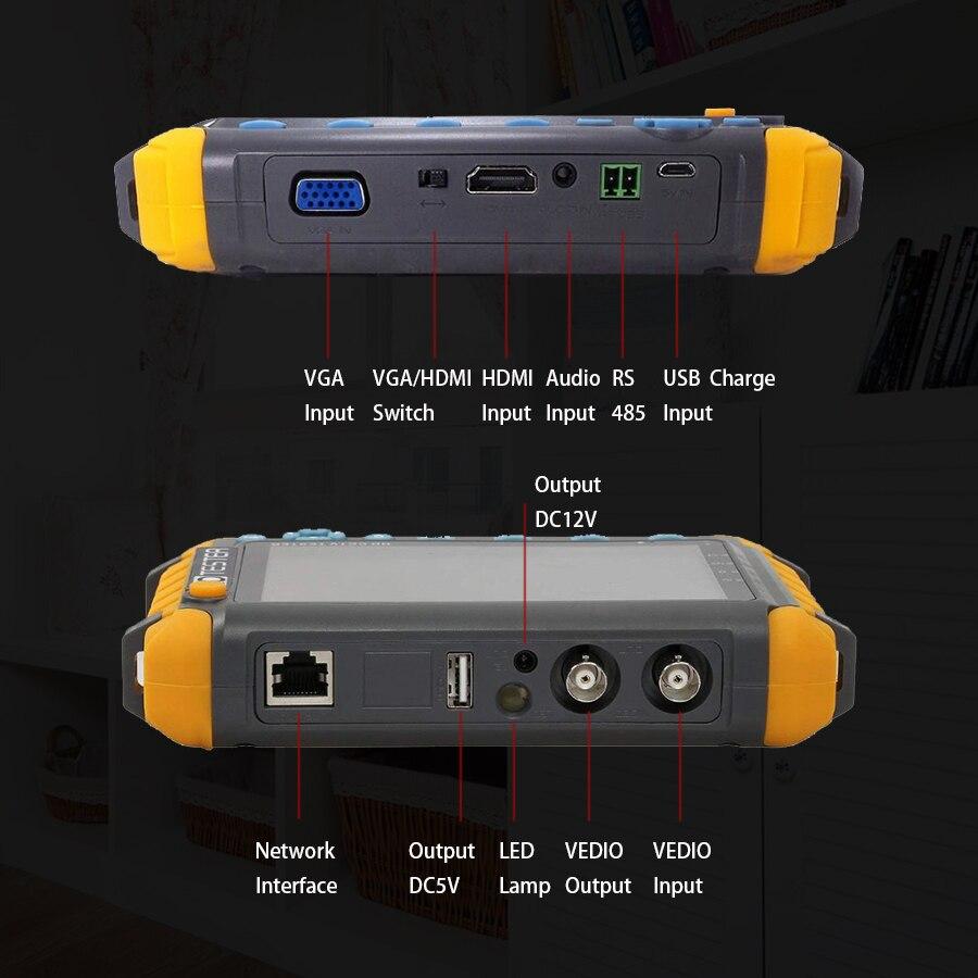 2020superventas 5 pulgadas Tft Lcd Hd 5Mp Tvi Ahd Cvi Cvbs cámara de seguridad analógica probador Monitor en un Cctv probador Vga Hdmi entrada lv8w - 2