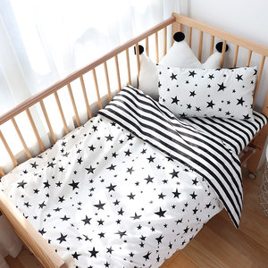 Image 4 - Baby Bedding Set Nordic Baby Items For Newborns Cotton Kids Crib Bedding Set With Bumper Nursery Decor Baby Bed Linen For Infant