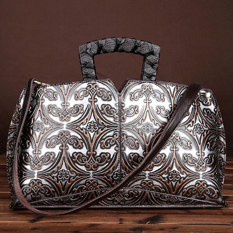 Women Luxury Handbags Genuine Leather Messenger Shoulder Bags Original Designer Vintage Clutch Tote Famous Brand Leather