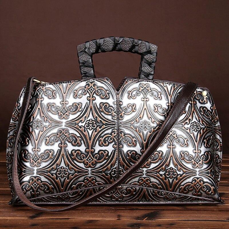 Women Luxury Handbags Genuine Leather Messenger Shoulder Bags Original Designer Vintage Clutch Tote Famous Brand Leather Bags