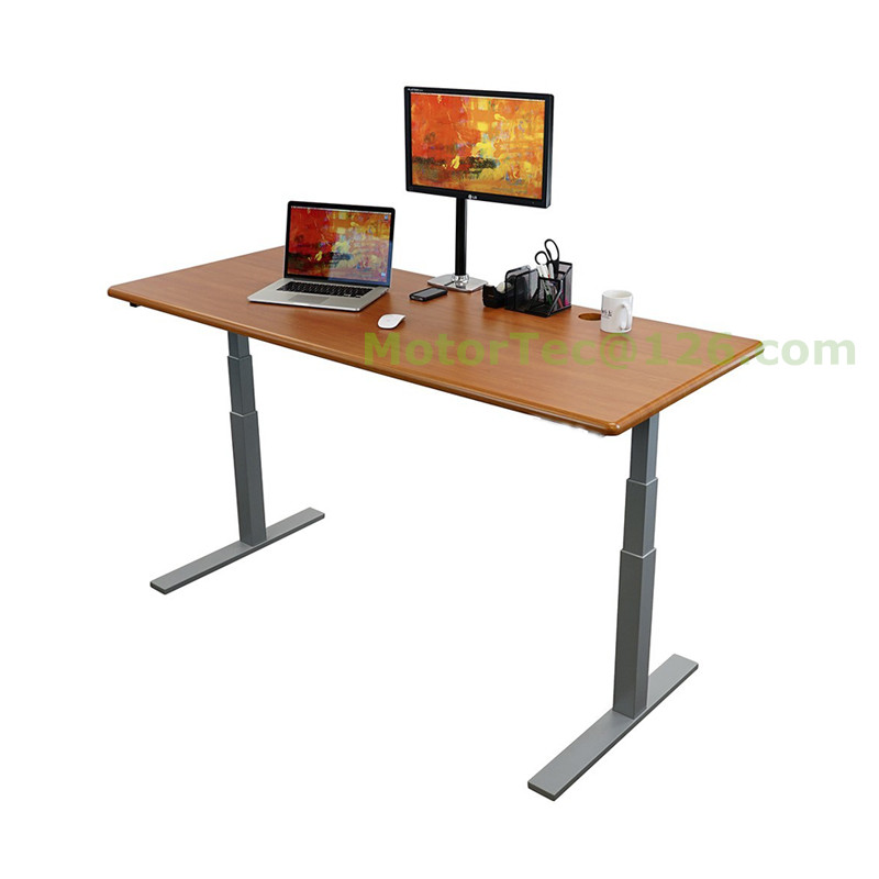 Standing up Electric Height Adjustable desk 110V 220V 50-60HZ input free shipping to Brazil