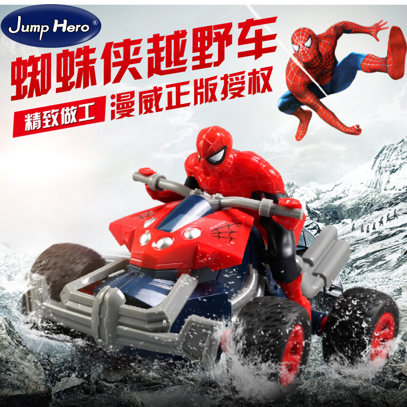 RC Car Electronic Superhero Spiderman Car Remote Control Racing Car Stunt Climbing Dirt Bike Toys For Children Gifts
