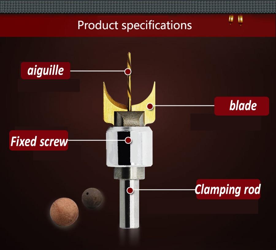 24 pcs / ensemble alliage boule couteau bricolage outils de - Foret - Photo 3