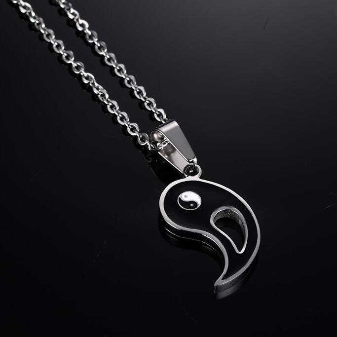 Neue Chinesische Mystische Yin Yang Anhänger Halskette edelstahl - Modeschmuck - Foto 3