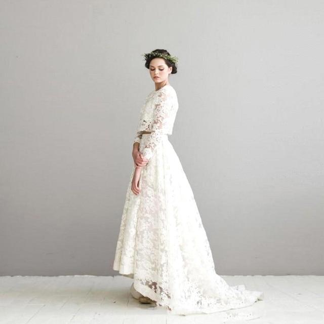 Aliexpress.com : Buy Vintage Two Pieces Lace Wedding Dresses 2016 ...