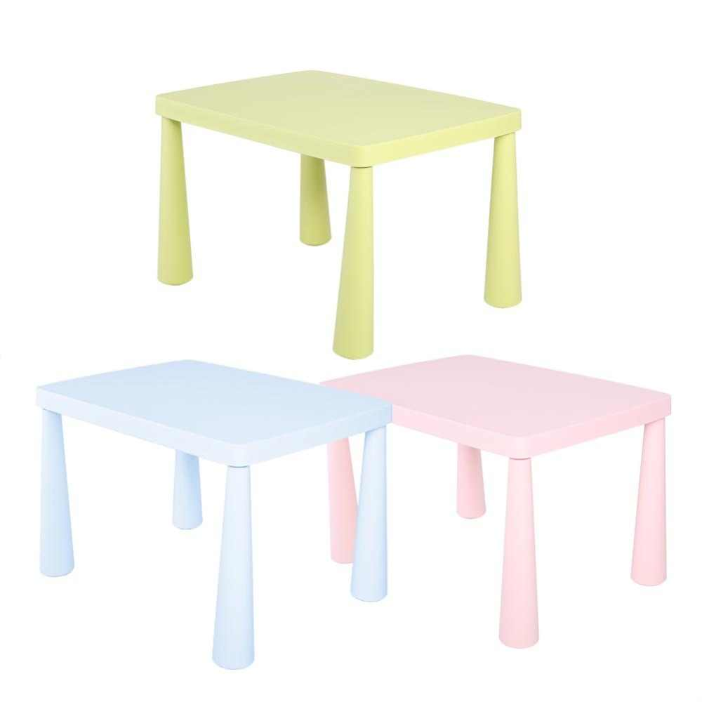 Clearance Kids Children Portable Plastic Table Learn & Play Activity School Home Furniture Light Blue