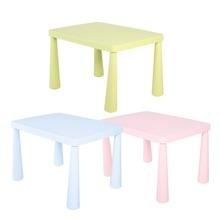 Liquidation enfants enfants Portable Table en plastique apprendre et jouer activité école maison meubles bleu clair